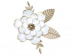 Metal Wall Art - Shabby Chic Flower