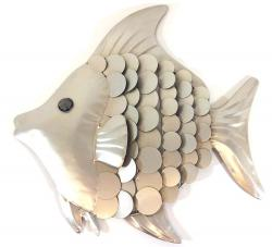 Metal Wall Art - Shimmering Fish