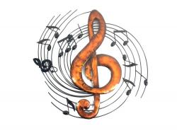Metal Wall Art - Treble Clef Music Swirl