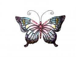 Metal Wall Art - Small Multicoloured Butterfly
