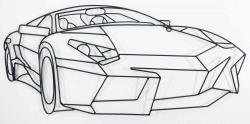 Metal Wall Art - Sports Car Outline
