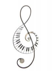 Metal Wall Art - Treble Clef Music Keys