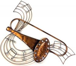 Metal Wall Art - Trombone Music Scroll