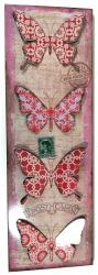 Metal Wall Art - Vintage Butterfly Plinth