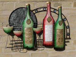 Metal Wall Art - Wine Time Arch