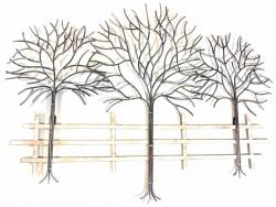 Metal Wall Art   Winter Tree Scene