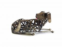Metal Weave Dog Ornament
