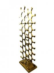 Modern Metal Wine Rack Holds 27 Bottles - Bronze