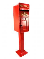 Replica Royal Mail ER Post Box Or Letter Box With Stand - Red