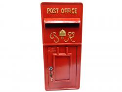 Replica Wall Mounted Royal Mail GR Post Box Or Letter Box - Red