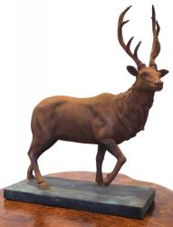 Resin Sculpture - Rusty Stag Ornament