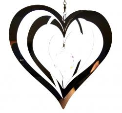 Small Heart Stainless Steel Wind Spinner