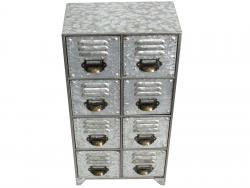 Small Industrial Metal Cabinet - 8 Drawers