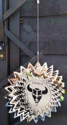 Stainless Steel Wind Spinner Zodiac Design - Taurus