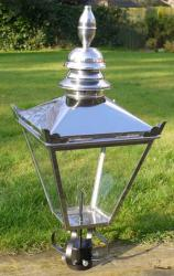 Victorian Style Stainless Steel Lamp Top For Garden Lighting
