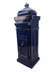 Vintage Blue Grand Pillar Post Box
