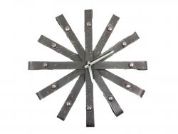 Wall Clock - Metal Industrial Loop Design