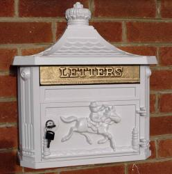 Wall Mounted Aluminium Post Box - White