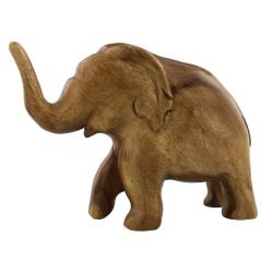Wood Sculpture - Elephant Trunk Up