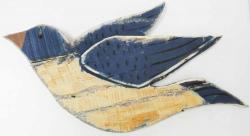 Wood Wall Art - Shabby Chic Flying Bird