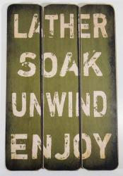 Wooden Wall Art - Soak Sign Green