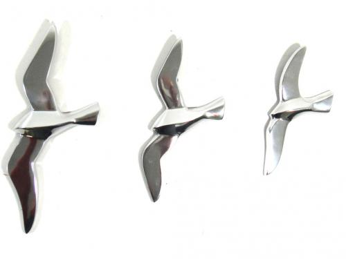 Metal Wall Art - Set Of 3 Flying Seagull Birds