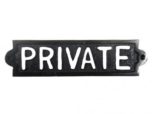 Cast Iron Sign - Private