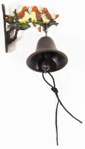 Cast Iron Wall Bell - Wren Bird Family