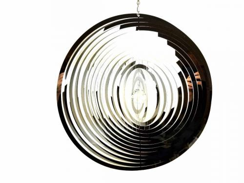Extra Large Circle Stainless Steel Wind Spinner With Crystal