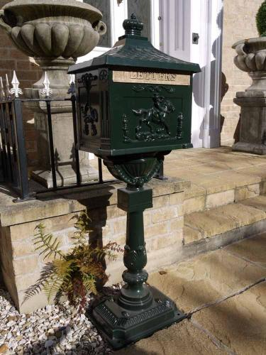 Freestanding Green Letter Post Box