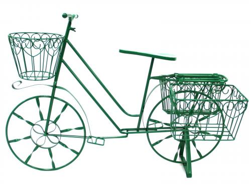 Garden Bicycle Planter - Green