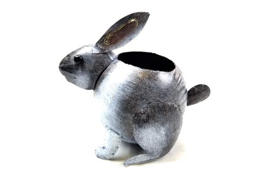 Garden Metal Rabbit Planter