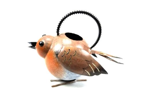 Garden Metal Robin Bird Watering Can