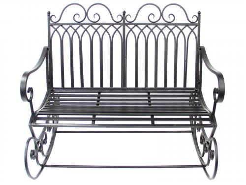 Garden Rocking Chair Bench - Black