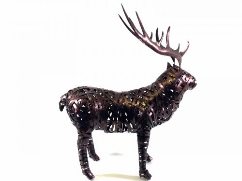 Large Bronze Metal Stag