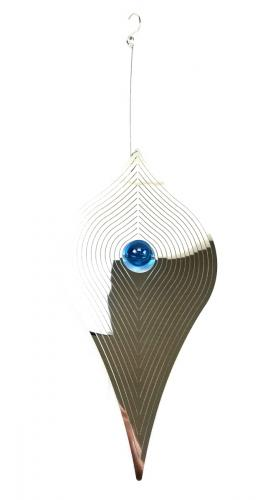 Large Kite Stainless Steel Wind Spinner With Crystal