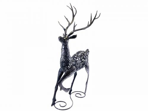 Large Metal Standing Proud Stag