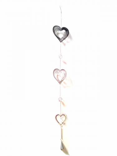 Long Decorative Hanging Chain - Heart