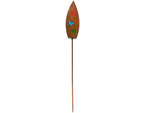 Metal Garden Stake - Rusty Butterfly Spear