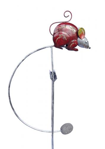 Metal Garden Wind Vane Rocker - Mouse
