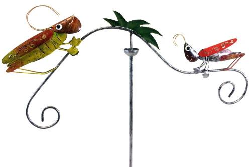 Metal Garden Wind Vane Spinner - Grasshopper Design
