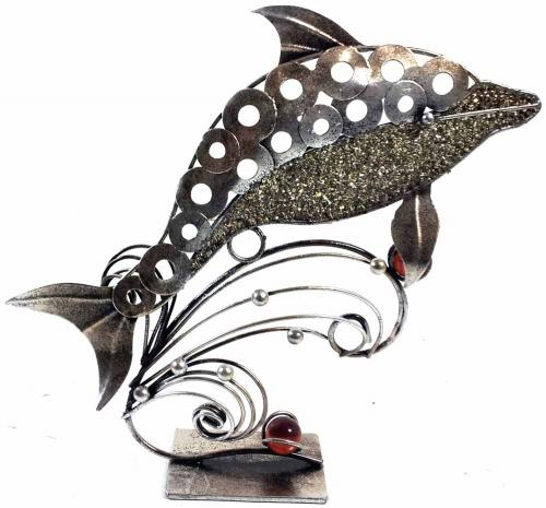 Metal Sculpture - Leaping Dolphin