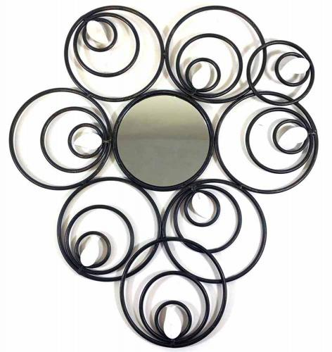 Metal Wall Art - Abstract Circle Disc Mirror