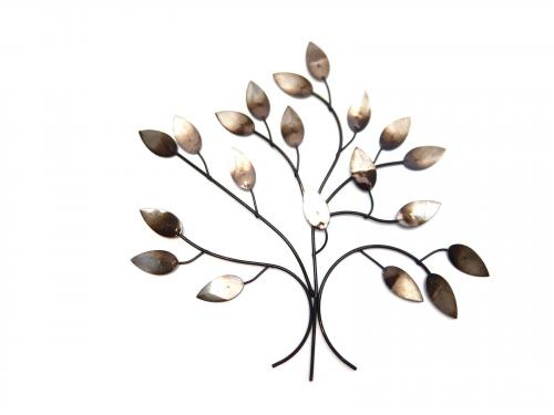 Metal Wall Art - Antique Silver Tree Branch