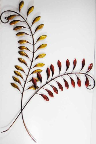 Metal Wall Art - Autumn Leaf Stem