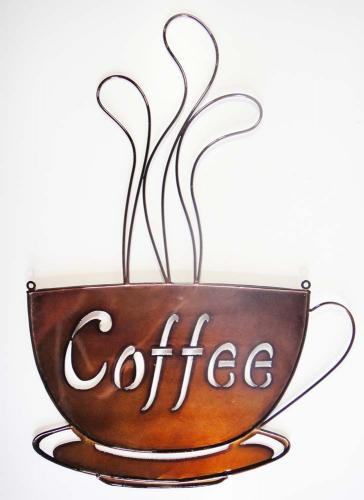 Metal Wall Art - Bronze Coffee Cup
