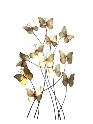 Metal Wall Art - Cool Winter Blue Butterflies