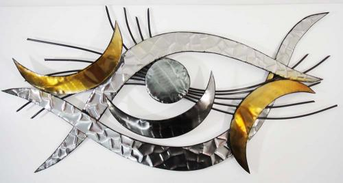 Metal Wall Art - Eye Of Petra Abstract