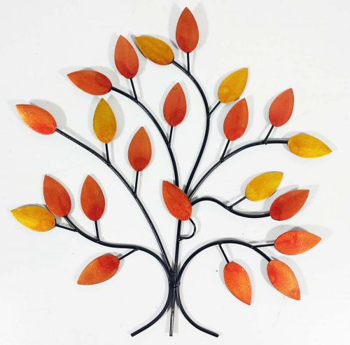 Metal Wall Art - Golden Autumn Tree Branch