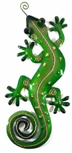 Metal Wall Art - Small Green Gecko Wall Decor